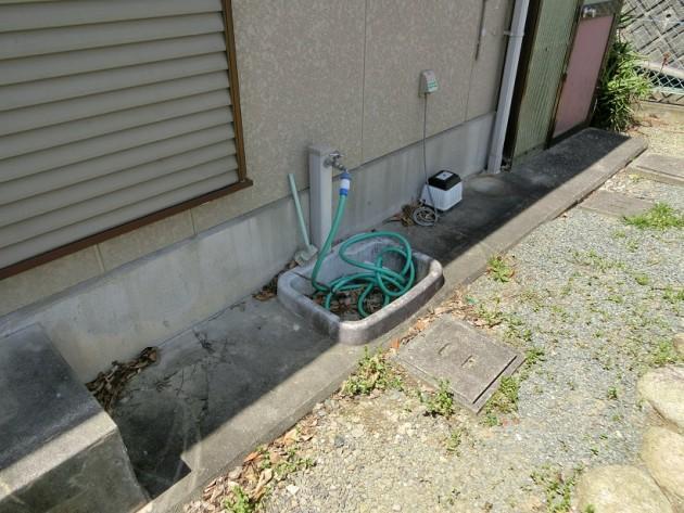 水やりに便利な【立水栓】