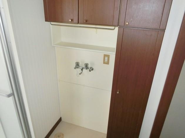 上部に棚のついた【洗濯機置き場】