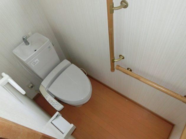 【リフォームされたトイレ】