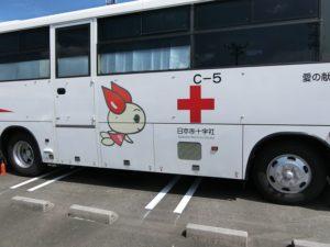 【以前の献血車よりグレードアップしているかな】