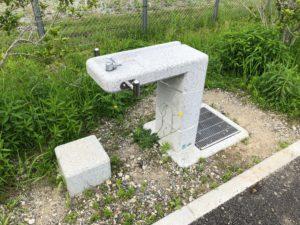 【水飲み場も新しくなった広陽公園】