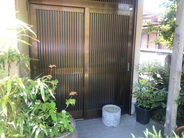 【増築リフォーム時に新しくした玄関引き戸】