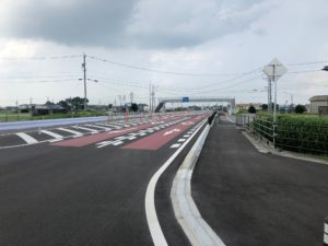 【完成しました県道六軒鎌田線バイパス道路】