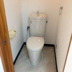 【キレイで清潔な洋風トイレ】