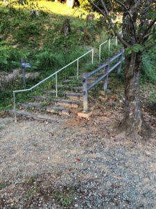 【五箇篠山城跡への入り口は整備されていますよ】