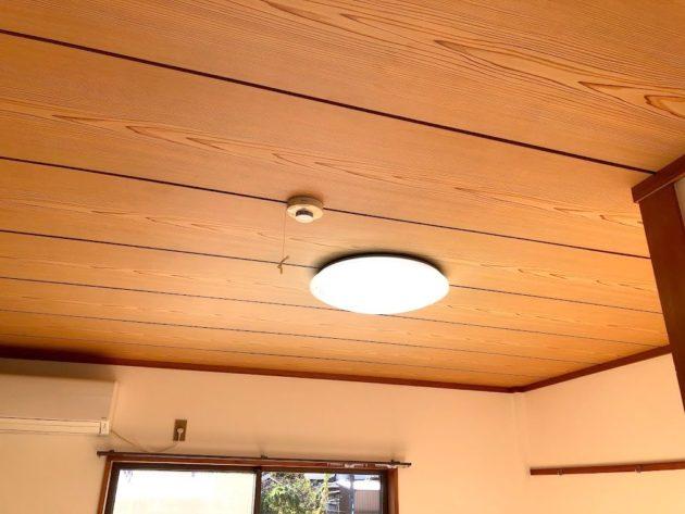 【火災警報器・LED照明の付いた天井】