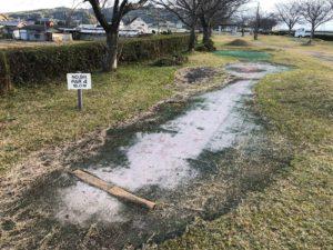 【桜づつみ公園のパターゴルフ場】
