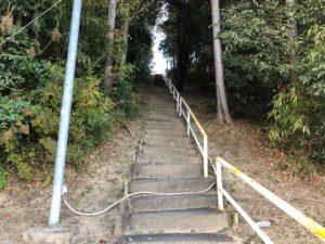 【天文台入口の強烈な坂】