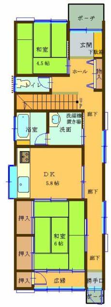 【文豪の街射和町借家4DK1階間取り】