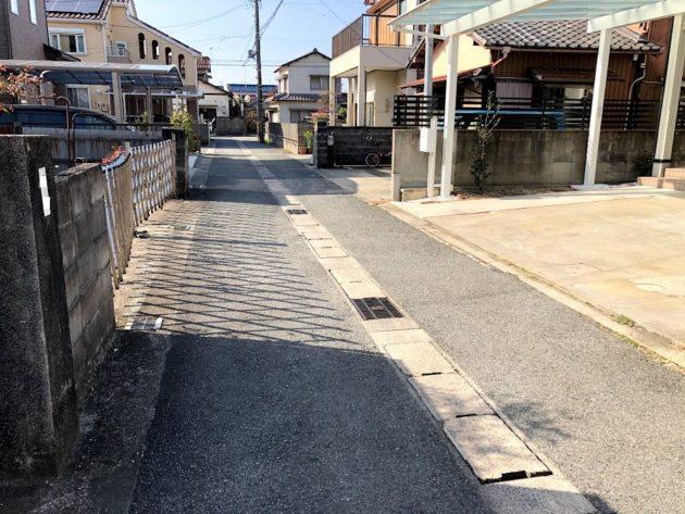 【大黒田町中古住宅前面道路】