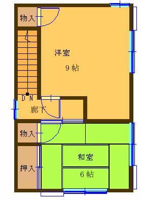 【田原町中古住宅630万円眺めの良い2階間取り】