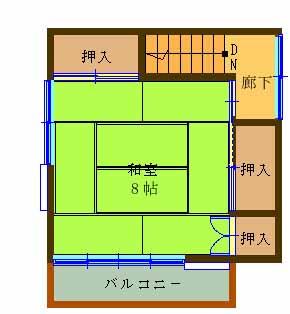 【大黒田町中古2階間取り】